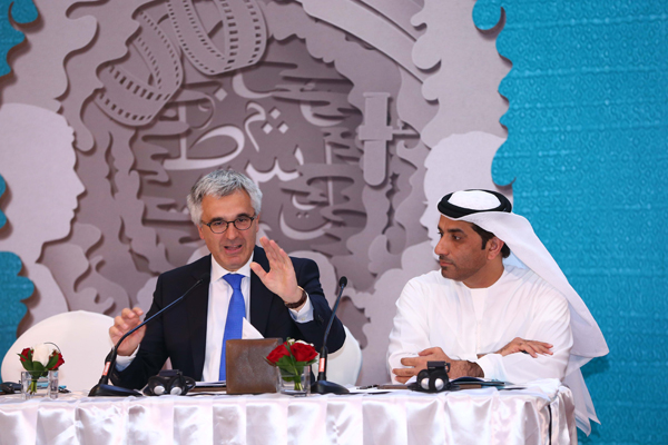 (L-R) H.E. Liborio Stellino and Mohamed Al Shehhi during ADIBF 2016 Press Conference